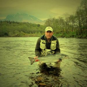 Salmon Fishing river Lochy